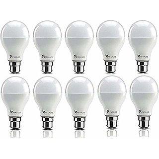 Syska 9W LED Bulb Cool Day Light - Pack of 9