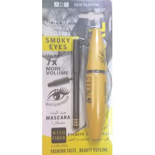 ADS SMOKY EYES MASCARA  EYELINER(2 in 1)(KAJAL FREE)