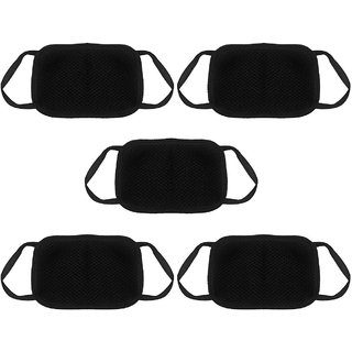 HEALTH KING Symbolic Of Best Quality Mouth  Nose Face Mask For  Anti Pollution / Dust Protection- BLACK ( 5 Pcs Set )