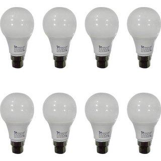 Syska 3W LED Bulb Cool Day Light - Pack of 8