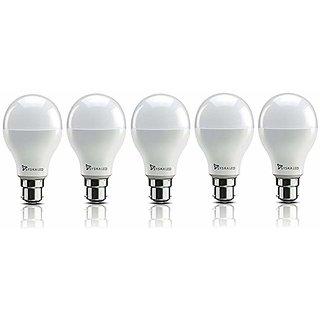 Syska 5W LED Bulb Cool Day Light - Pack of 5