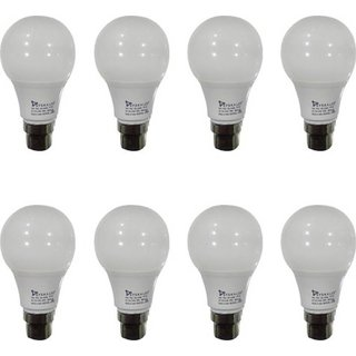 Syska 5W LED Bulb Cool Day Light - Pack of 8