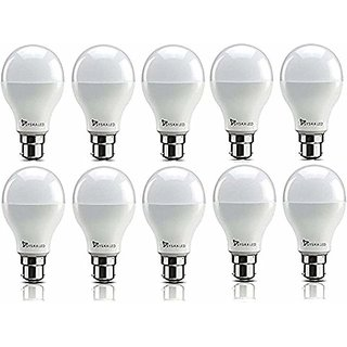 Syska 5W LED Bulb Cool Day Light - Pack of 9