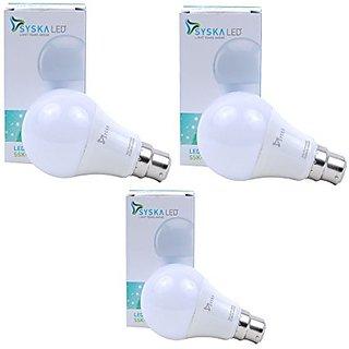 Syska 9W LED Bulb Cool Day Light - Pack of 3