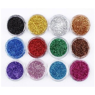 Color Look Eye Shadow Powder Glitter Pack of 12