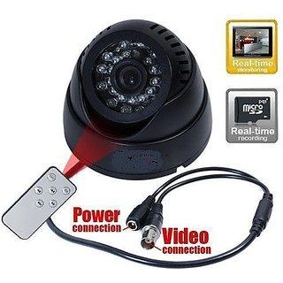 Cctv Dome 24 IR Night Vision Cctv Camera Dvr Micro Memory Card Slot Remote