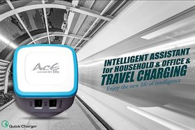 AcE(2.1AMP+1AMP) 2 USB Quick Charge for LYF (ACE-2112-Blue)