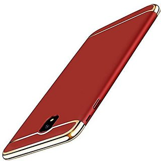 LENIS  New Chrome 3IN1 Luxury Full body Protective Back cover for Samsung Galaxy J7 Pro  ( RED