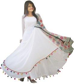 Raabta Fashion Women Plain White  Dress