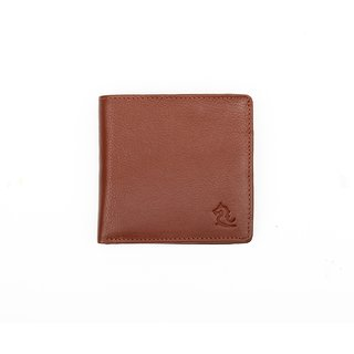 Kara Mens Tan Pure Leather Bi-fold Wallet