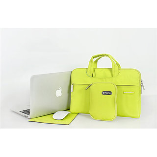 Gearmax Campus Slim Case 15.4 Waterproof Laptop Messenger Bag for with Small Case and Mousepad, Lime Green Color