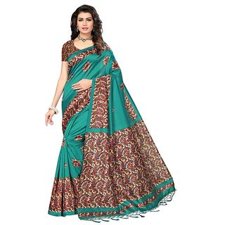 ad91e0999f5cde Buy Reeva Trendz Women's Green Mysore silk Saree With Blouse Piece Online -  Get 54% Off