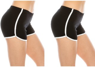 The Blazze Women Sports Shorts Gym Workout Yoga Short Pack of 2