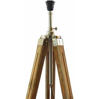 Regal Nautical Big Tripod Floor Lamp Stand(Teak Wood)