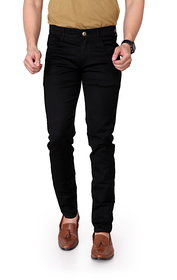 Ragzo Men's Stretchable Slim Fit Black Jeans
