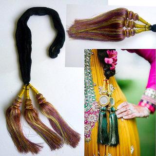 Bollywood Punjabi Multicolor Paranda Parandi Hair Accessory Braid Tassles