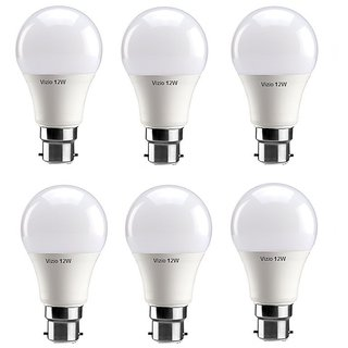 Vizio 12 Watt B22 Premium Quality Cool Daylight Led Bulbs (pack of 6)