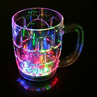 Magic Inductive Rainbow Color Matte Cup LED Flash - Transparent