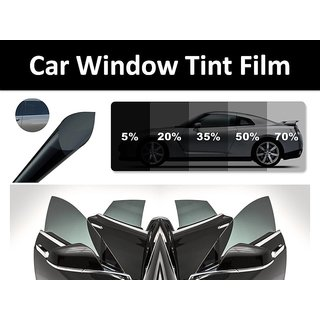 Car Window Tint Film in Charcoal Shade with 50 Visbility 99 UV rays Rejection 20x235 inches Covers Side  Rear Window