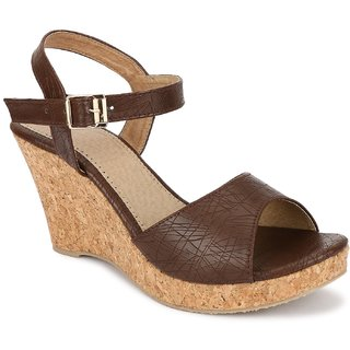 SHOFIEE WOMENS STYLISH  LEATHER,TRENDY   CASUAL WEDGES
