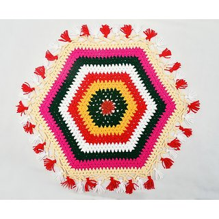 Handicraft Decorative Crocheted Table Rumal Multicolor Sold By Evershine Gifts And Household