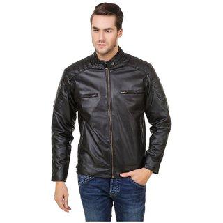 Leather Retail Faux Leather Designer Biker Jacket For Man