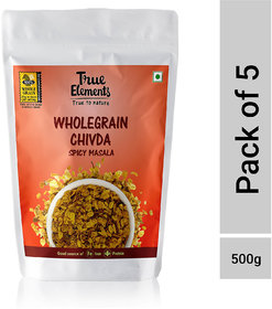 True Elements Wholegrain Chivda Spicy Masala 100gm (Pack of 5)