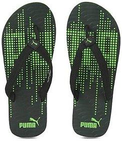 Puma Animatrix Black Green Print Slippers