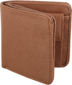 Y Green Casual Tan Leatherite Bi-fold Men's Wallet (8 Card Slots)