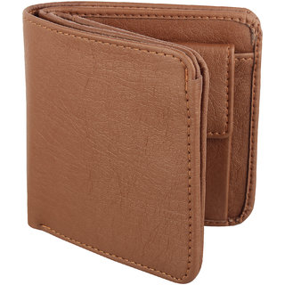 Y Green Casual Tan Leatherite Bi-fold Men's Wallet (8 Card Slots) (Synthetic leather/Rexine)
