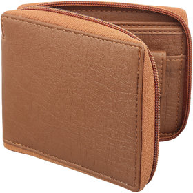 YGREEN Tan Zipper mens wallet