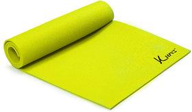 Kurvz Eco Friendly Anti Skid Yoga  Exercise Mat Yellow (8mm Thick)