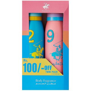 Beverly Hills Polo Club Sport Deo Twin Pack (300 ml ) - For Women
