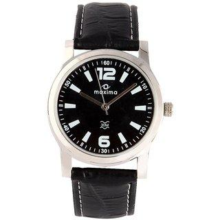 Maxima Elegant Signature Black Analog Watch For Men