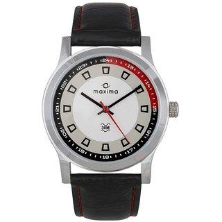 Maxima Elegant Signature Red Black Dial Analog Watch