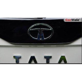 Tata Indica Vista Monogram Emblem Decal Logo Chrome REAR LOGO + TATA LOGO