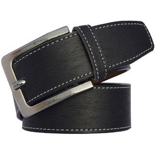 SUNSHOPPING men's black leatherite belt