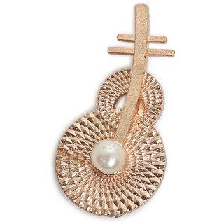 AJ Dezines rose gold guitar brooch for men and women (B118ROSEGOLD)