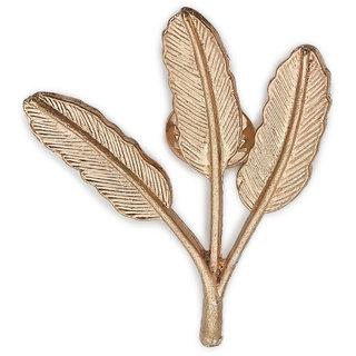 AJ Dezines rose gold leaf brooch for men and women (B120ROSEGOLD)