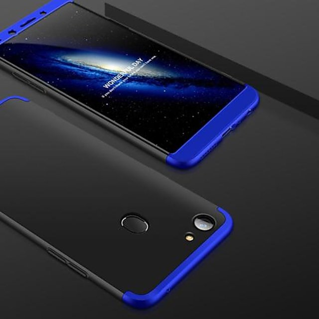 hot sale online a438d f5875 Oppo F7 New Design black blue 360 Degree Full Body Protection Front Back  Case Cover Standard Quality