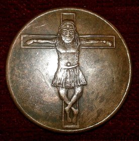 JESUS CHRIST ONE ANNA EAST INDIA COMPANY 1818 TEMPLE TOKEN AS ON IMAGES