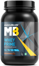 MuscleBlaze Whey Prime Whey Isolate Protein (1kg, Choco