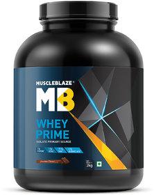MuscleBlaze Whey Prime Whey Isolate Protein (2kg, Choco