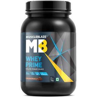 MuscleBlaze Whey Prime Whey Isolate Protein (1kg Chocolate)