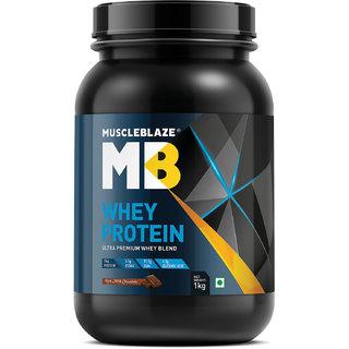 MuscleBlaze Whey Protein 2.2 lb (1 kg) Rich Milk Chocolate