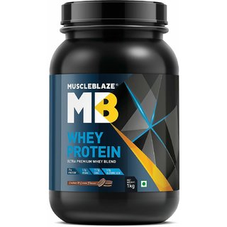 MuscleBlaze Whey Protein 1 kg Cookies & Cream