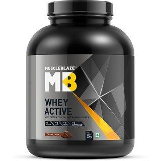 MuscleBlaze Whey Active 1 kg / 2.2 lbs Chocolate