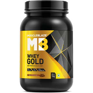 MuscleBlaze Whey Gold 2.2 lb Rich Milk Chocolate