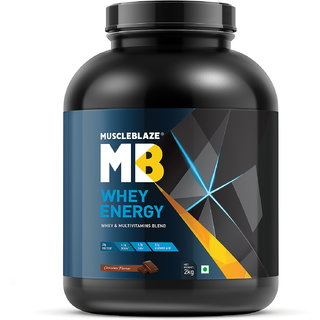 MuscleBlaze Whey Energy with Digezyme 4.4 lb Chocolate