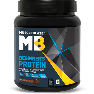 MuscleBlaze Beginners Whey Protein Supplement (Chocolate 0.4 Kg / 1 lb)